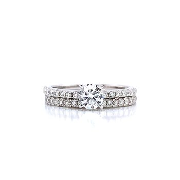 1 1/2ctw Thoroughly Modern Wedding set