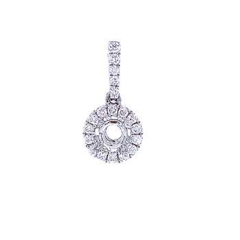 Halo Diamond Pendant Mounting