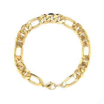 3-1 Figaro Forever Gold Bracelet