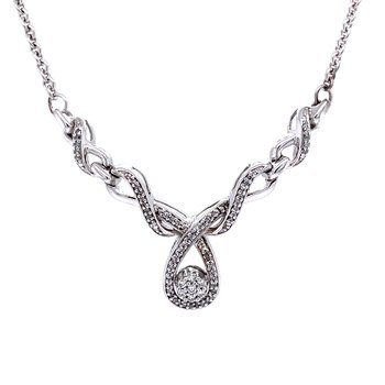 Ribbons of Love Diamond Necklace