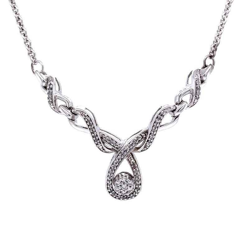 Bryan Beauties Ribbons of Love Diamond Necklace