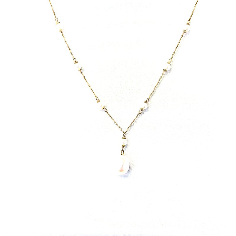 Bryan Beauties Station to Station Drop Pearl Necklace