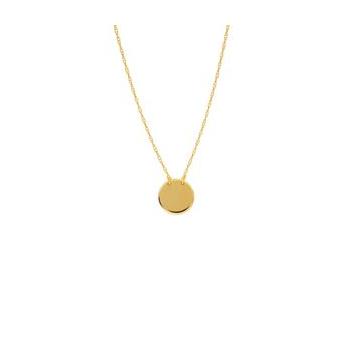 Mini Round Disc Necklace