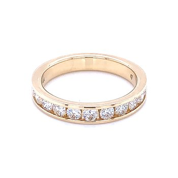 Channel Set Diamond Wedding Band 14ky-3/4ctw