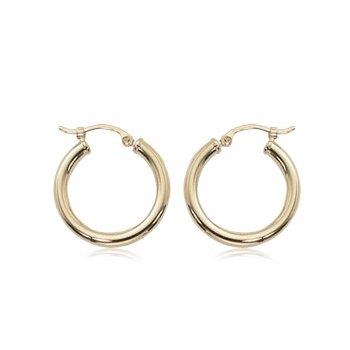 20mm click post hoop earring