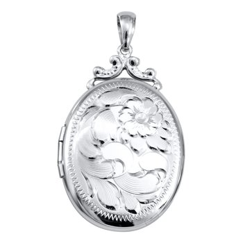Engraved Oval Locket