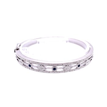 Vintage Style Sapphire & Diamond Bangle