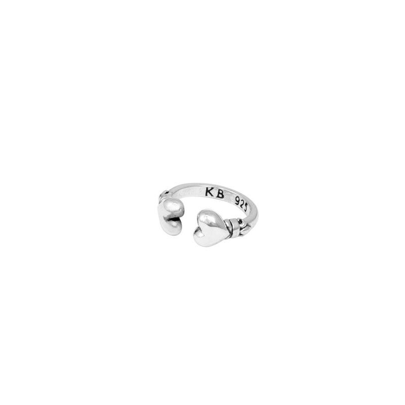 King Baby Open End Hearts Ring