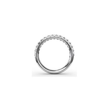 Shared Prong Anniversary Band-1/2ctw-14kw