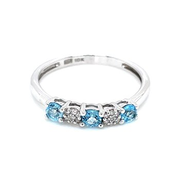 Blue Topaz Stackable Band