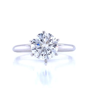 1 1/2 carat Round Solitaire Engagement Ring