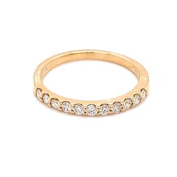 11 Diamond Shared Prong Band-1/3ctw-14ky