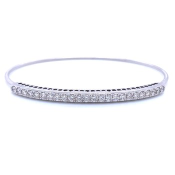 Expandable Diamond Bangle- 14kw 1ctw