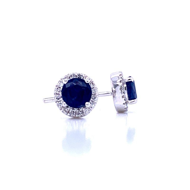 Bryan Beauties Sapphire and Diamond Halo Studs