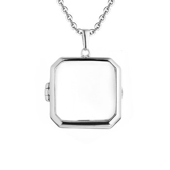 Billie Glass Locket Necklace