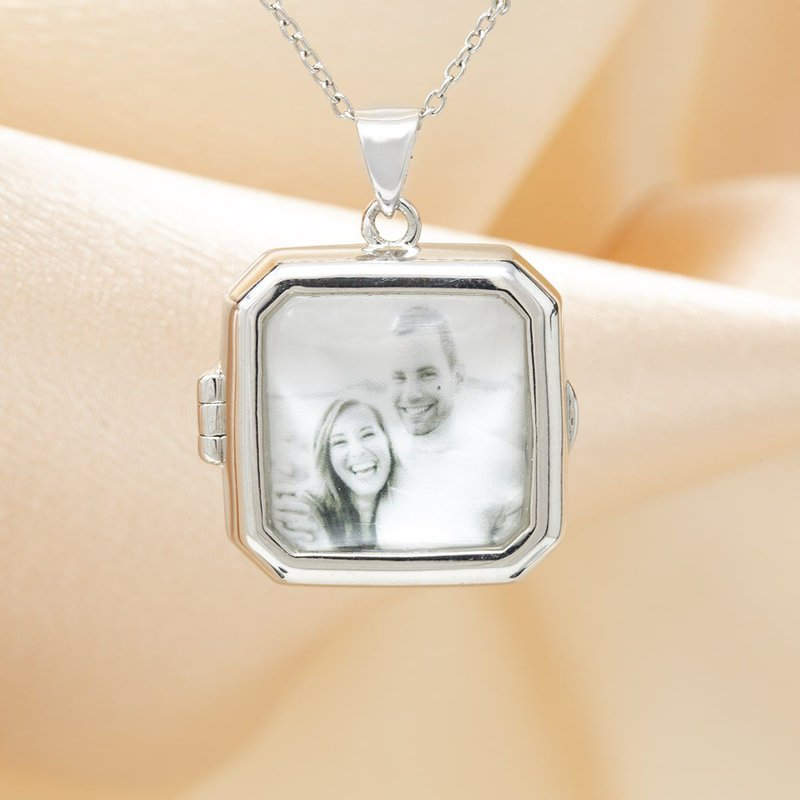 With You Billie Glass Locket Necklace