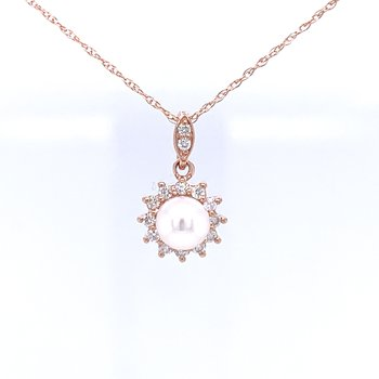 Pearl Pendant in Pink