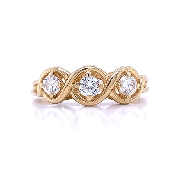 Three Diamond Fashion Ring