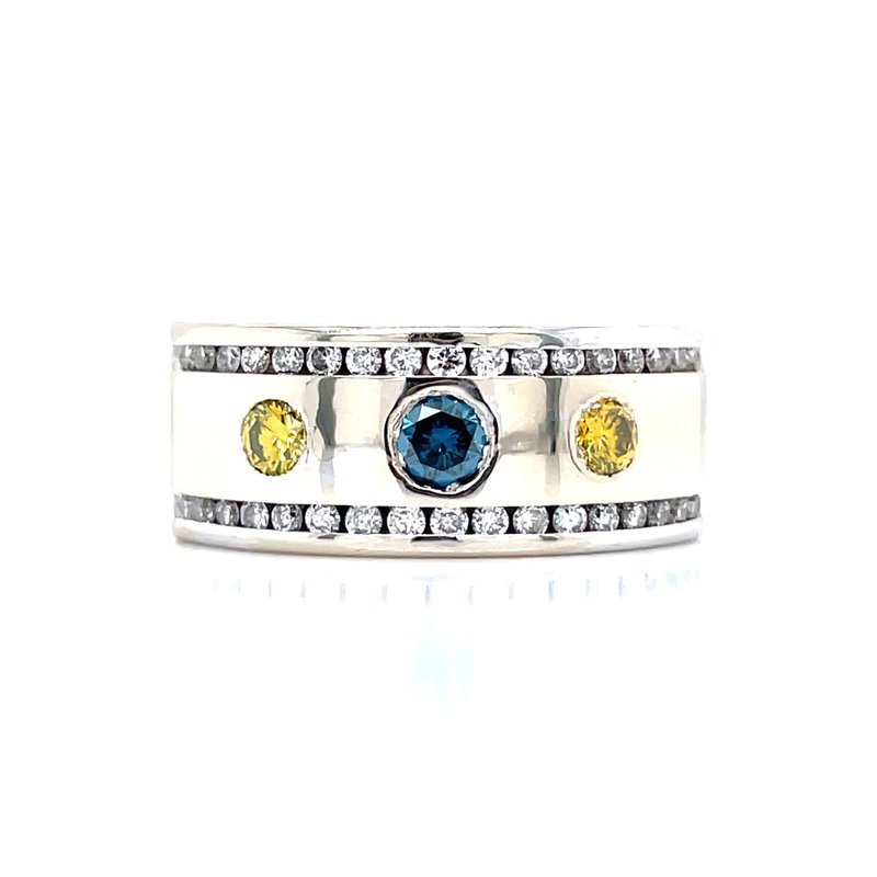 Bryan Beauties Blue & Yellow Diamond Band