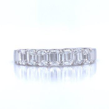 7 Diamond Emerald Cut Band-1ctw