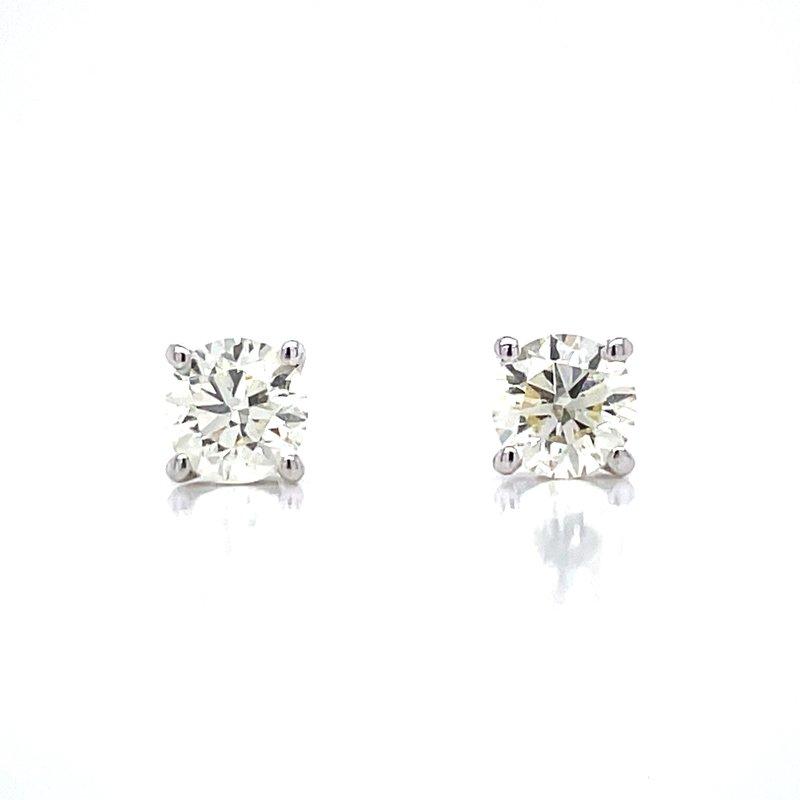 Bryan Beauties 3/4ctw Diamond Studs-14kw