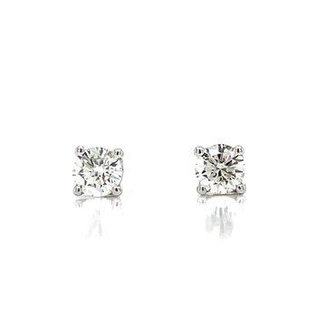 1/4ctw Diamond Studs-14kw