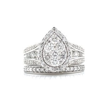Perfectly Paired Pear Shaped Wedding Set
