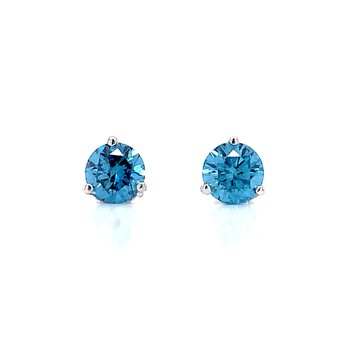 Evolv-Blue Diamond Earrings 3/4ctw