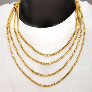6mm 18K Gold Plated Diamond Cut Curb Chain