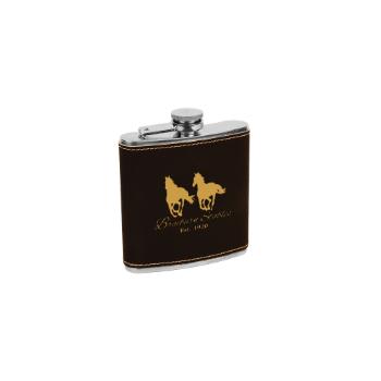Black Leather Flask