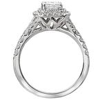 Romance Double Cushion Halo Engagement Ring