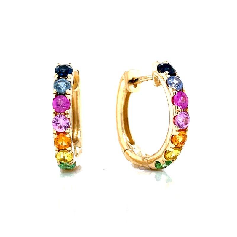 Bryan Beauties Rainbow Sapphire Hoop Earrings