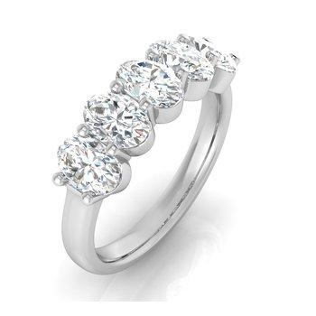 2ctw-5 Oval Lab Grown Diamond Band