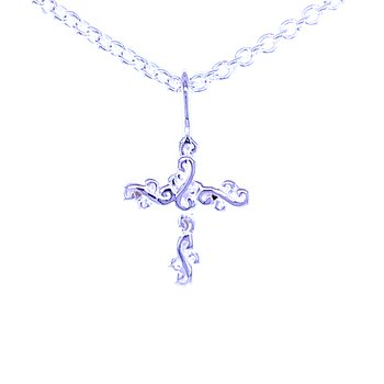 Scroll Cross Pendant