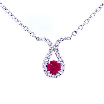 Ruby with Diamonds Necklace