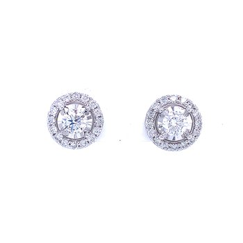 Tru-reflections Halos Diamond Studs 1/ctw