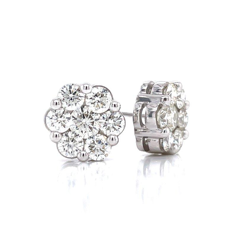 Bryan Beauties Flower Cluster Earrings 2ctw 10kw