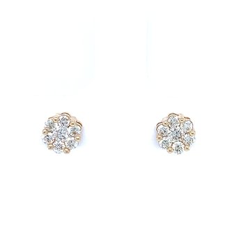 Flower Cluster Earrings 1/2ctw 10ky
