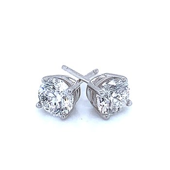 Diamond Studs 18k white gold  1 1/2ctw