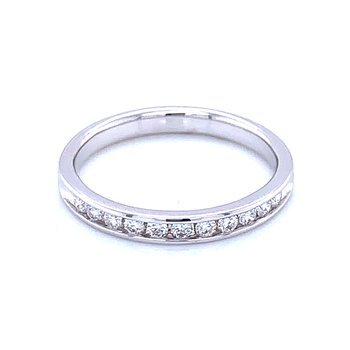 Channel Set Diamond Wedding Band 14kw-1/4ctw