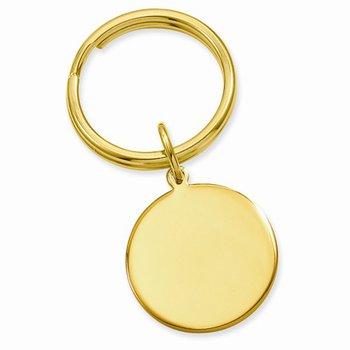 Round Disk Key Ring