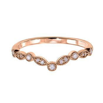 Chevron Stackable Band-14kr