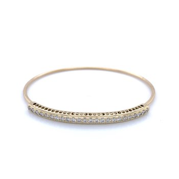 Expandable Diamond Bangle- 14ky 1ctw