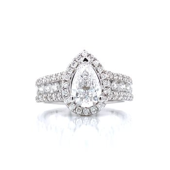 2ctw Pear Cut Engagement Ring