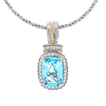 Wondrous Blue Topaz Pendant