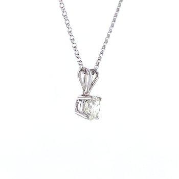 3/4ctw Diamond Solitaire Pendant