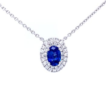 Something Special Sapphire & Diamond Necklace