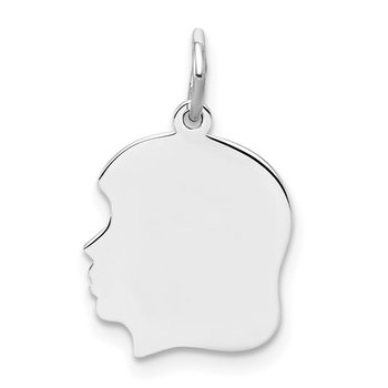 Girl Silhouette Sterling Silver Charm