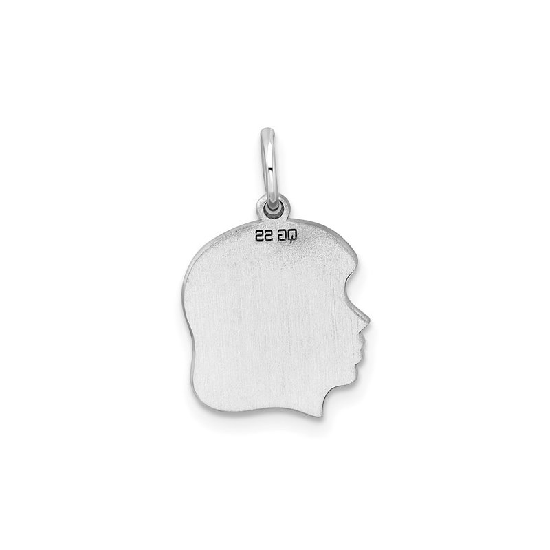 Bryan Beauties Girl Silhouette Sterling Silver Charm
