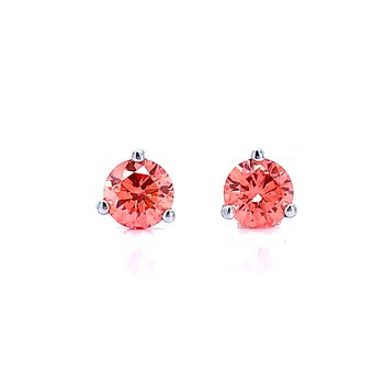 Evolv-Pink Diamond Earrings 1/2ctw